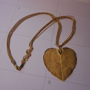 Jewelry - Gold Dipped Leaf Necklace